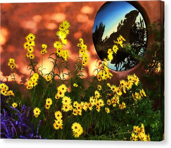Black-eyed Susans And Adobe Canvas Print