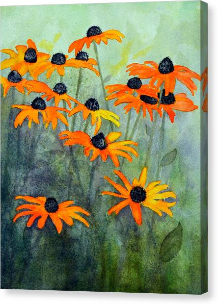 Susan Canvas Print - Black Eyed Susans by Moon Stumpp
