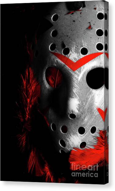 Hockey Canvas Print - Black Friday The 13th  by Jorgo Photography - Wall Art Gallery