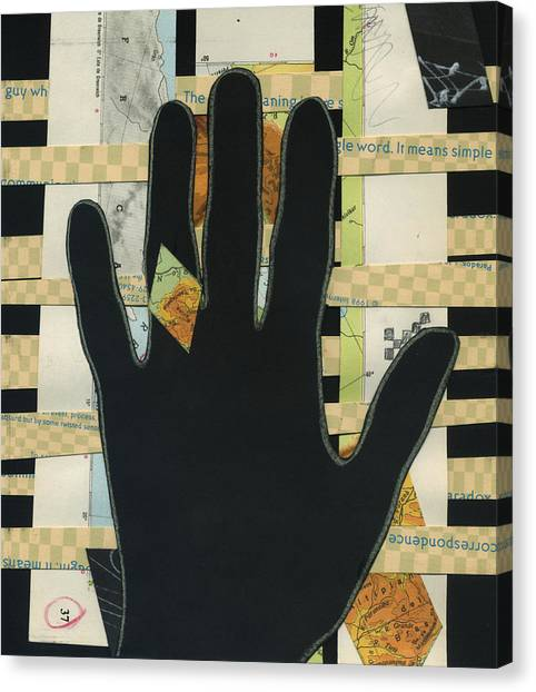 Black Hand Collage Canvas Print