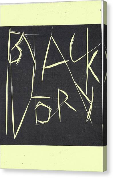 Black Ivory Title Page Canvas Print