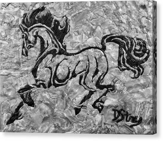 Black Jack Black And White Canvas Print