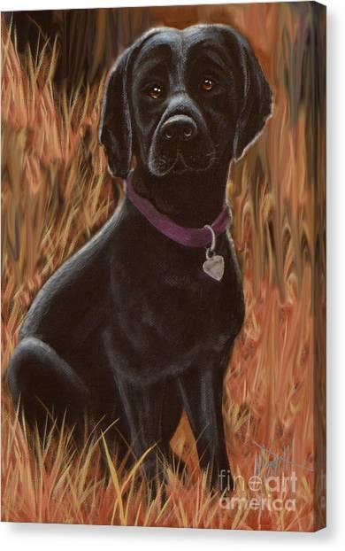 Canvas Print - Black Lab Hunter by Marilyn Smith