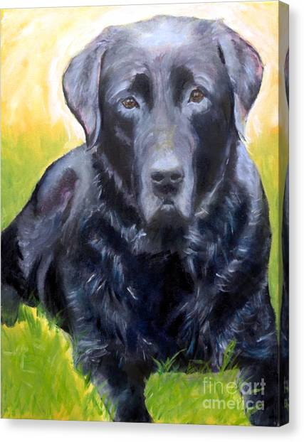 Black Lab Pet Portrait Canvas Print