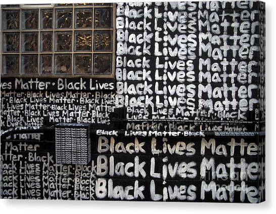 Black Lives Matter Wall Part 1 Of 9 Canvas Print