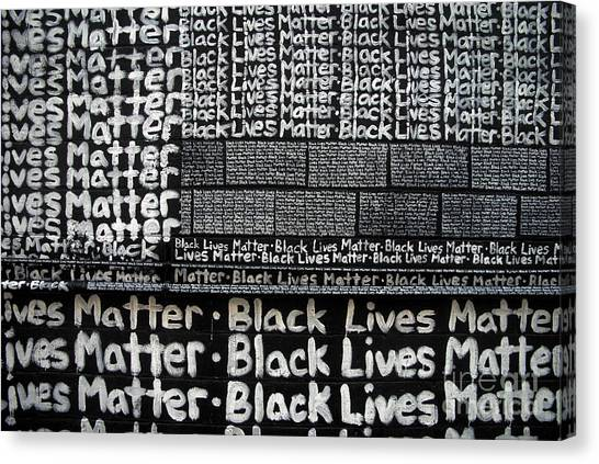 Black Lives Matter Wall Part 2 Of 9 Canvas Print