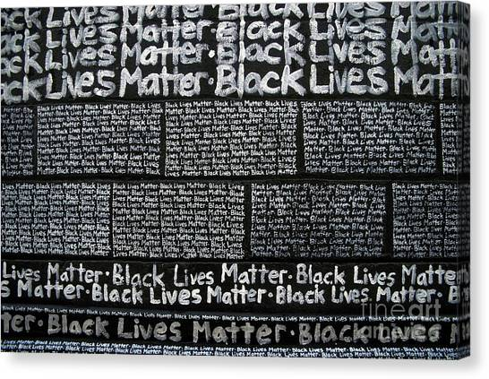 Black Lives Matter Wall Part 3 Of 9 Canvas Print