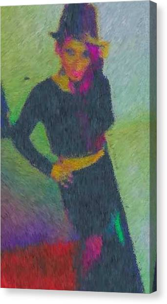 Black Magic Woman Canvas Print by Mike La Muerte Giuliani