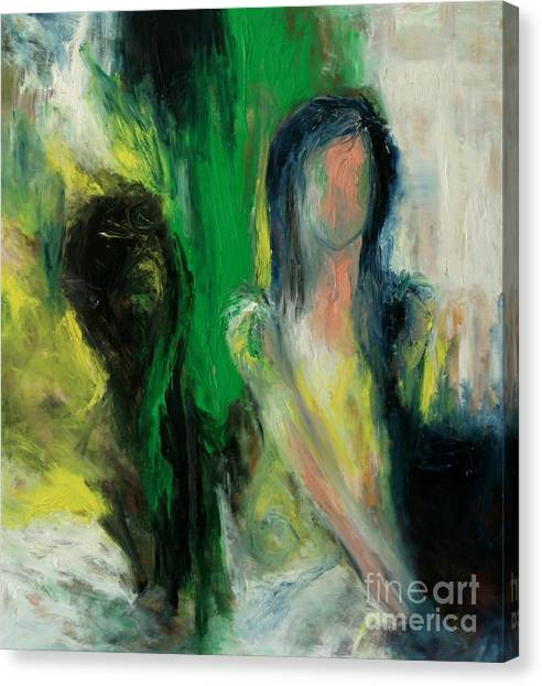Black Mirror Canvas Print by Adriana Tsiona Levin