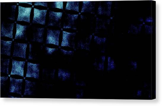 Black N Blue Burn Canvas Print