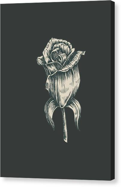 Canvas Print featuring the digital art Black On Black by ReInVintaged