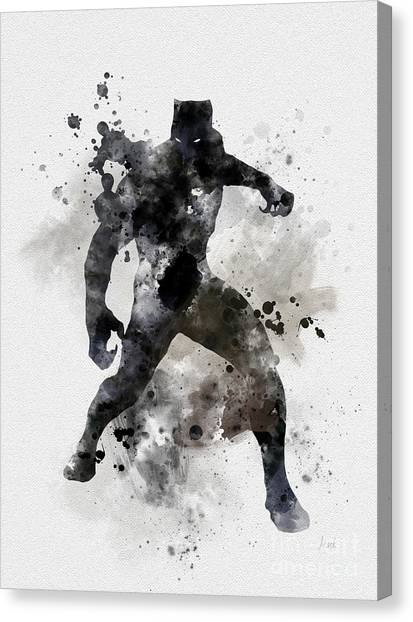 Panther Canvas Print - Black Panther by Rebecca Jenkins