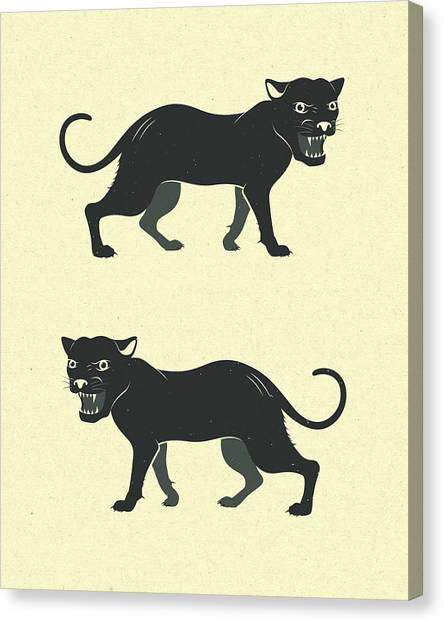 Panther Canvas Print - Black Panthers by Jazzberry Blue
