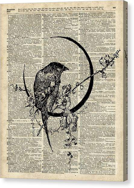 Raven Canvas Print - Black Raven Bird by Anna W