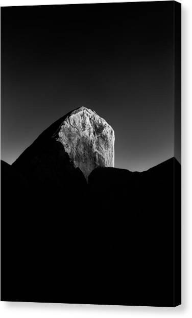 Mojave Desert Canvas Print - Black Rock by Joseph Smith