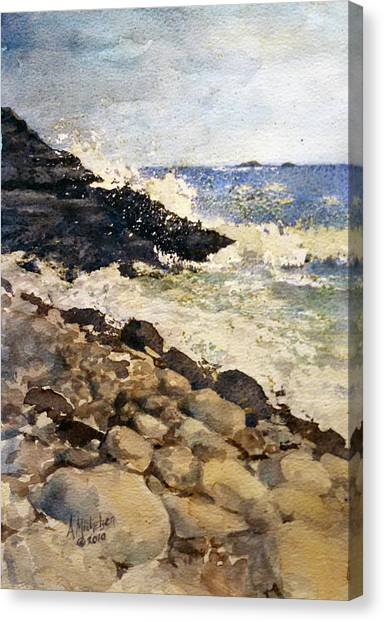 Black Rocks - Lake Superior Canvas Print
