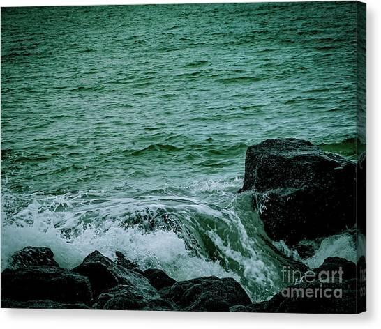Black Rocks Seascape Canvas Print