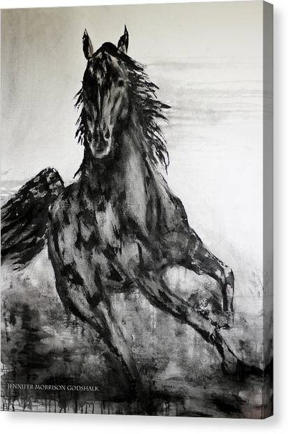Black Runner Canvas Print