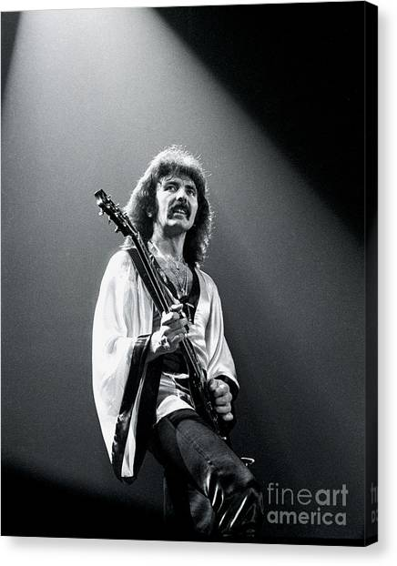 Black Sabbath 1978 Tony Iommi Canvas Print by Chris Walter