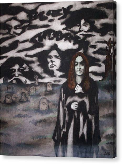 Black Sabbath Tribute Canvas Print by Sam Hane