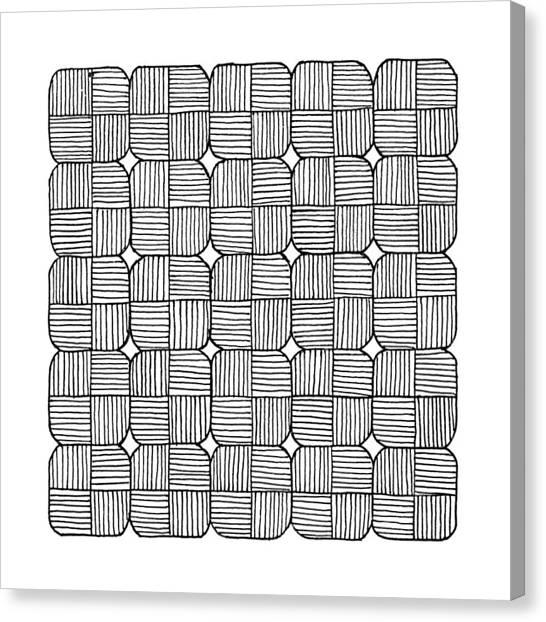 Black Squares Mosaic Canvas Print by Konstantin Sevostyanov