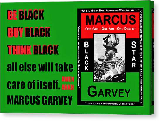 Black Star Garvey Canvas Print