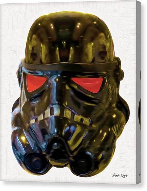 Technical Canvas Print - Black Stormtrooper - Pa by Leonardo Digenio