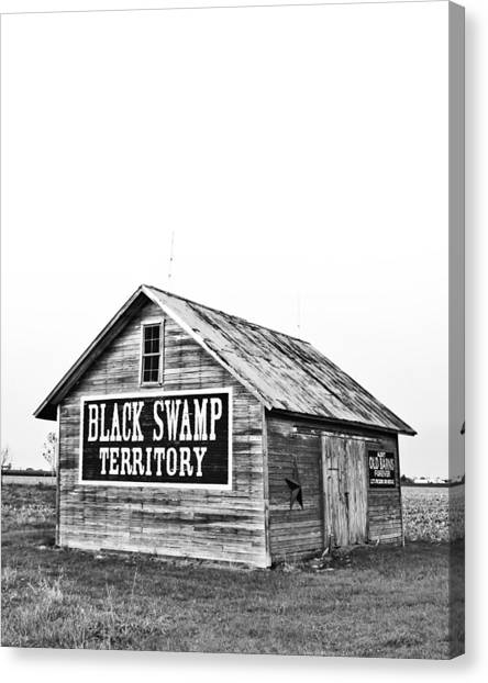 Barns Canvas Print - Black Swamp Territory by Andrew Weills
