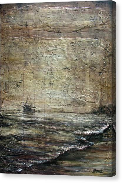 Black Tide Canvas Print by Judy Merrell
