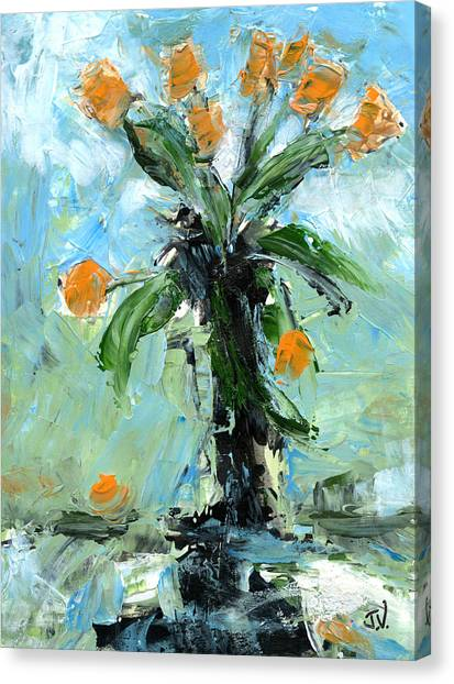 Black Vase Canvas Print