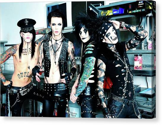 Bartender Canvas Print - Black Veil Brides by Mariel Mcmeeking