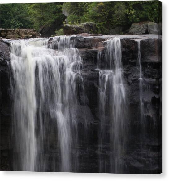 Black Water Falls Wv Canvas Print by Jean Haynes