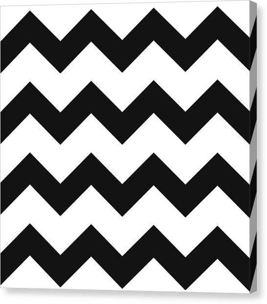 Black White Geometric Pattern Canvas Print