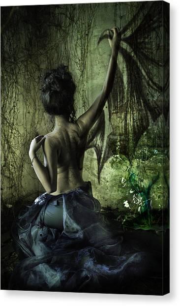 Canvas Print - Black Wing by MrsRedhead Olga
