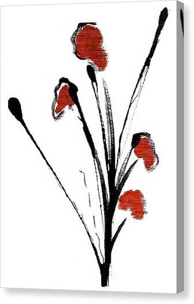 black with a touch of red  A Canvas Print by Mimo Krouzian