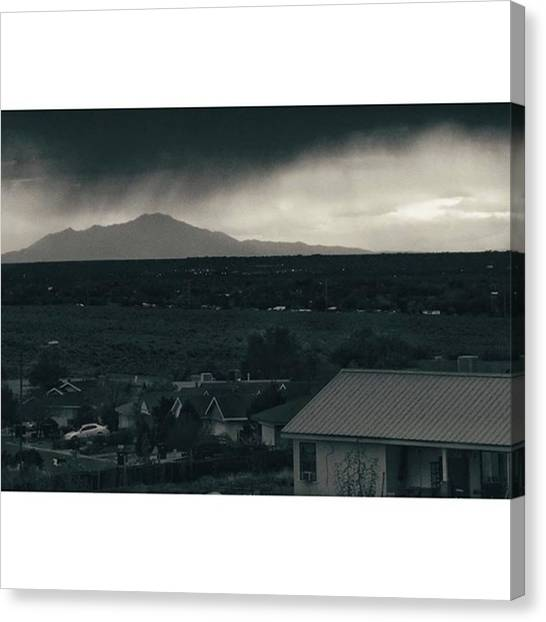 Rainclouds Canvas Print - #blackandwhite #contrast #bw #purenm by Megan Ater