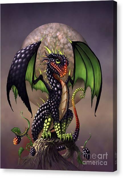 Blackberries Canvas Print - Blackberry Dragon by Stanley Morrison