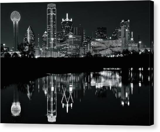 Dallas Mavericks Canvas Print - Blackest Night In Big D by Frozen in Time Fine Art Photography