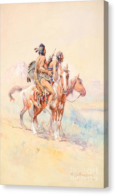 Eagle Scout Canvas Print - Blackfeet Scouts by Celestial Images