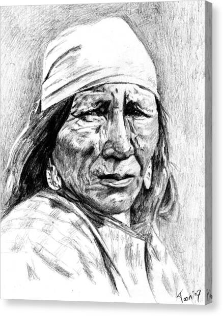 Blackfoot Woman Canvas Print
