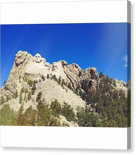South Dakota Canvas Print - Mt Rushmore by Britni Hemmer