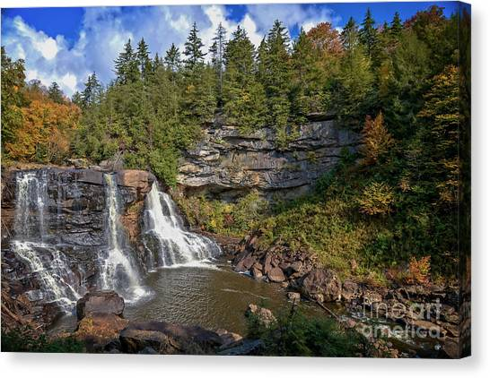 Blackwater Falls  In Autumn 3879c Canvas Print