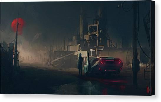 Submarine Canvas Print - Blade Runner 2049 by Maye Loeser