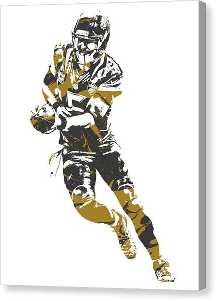 Jacksonville Jaguars Canvas Print - Blake Bortles Jacksonville Jaguars Pixel Art 14 by Joe Hamilton