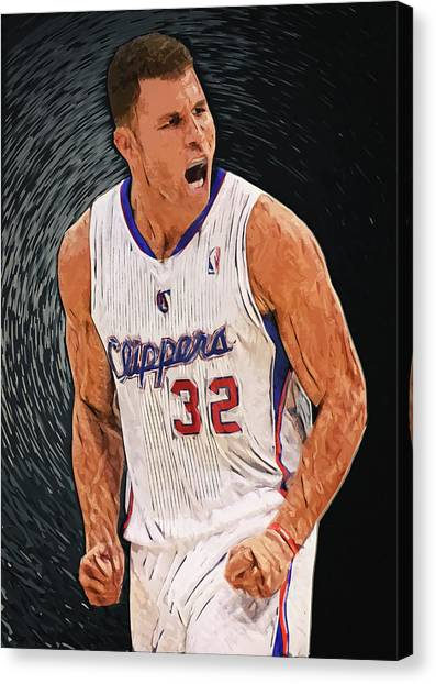 Western Conference Canvas Print - Blake Griffin by Taylan Apukovska