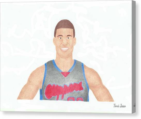 La Clippers Canvas Print - Blake Griffin by Toni Jaso