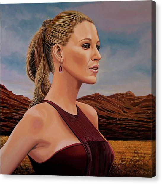 Paul Ryan Canvas Print - Blake Lively Painting by Paul Meijering