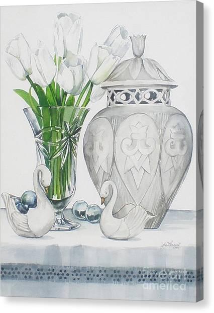 Blanc De Blanc Canvas Print