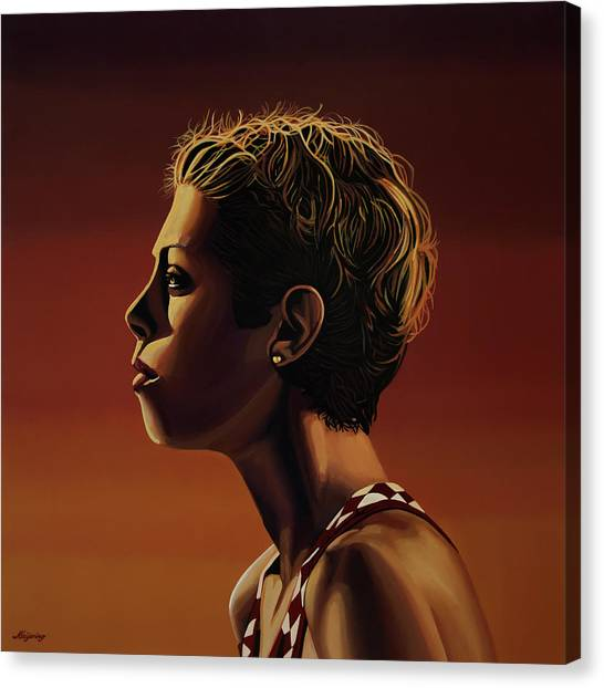 Athlete Canvas Print - Blanka Vlasic Painting by Paul Meijering