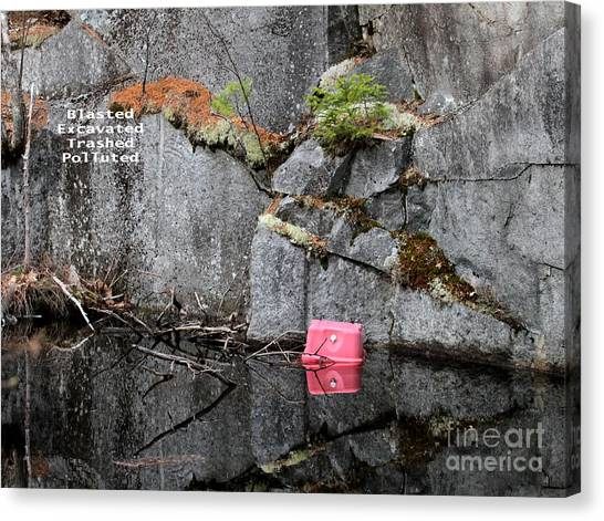 Blasted And Trashed Canvas Print